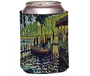 """Rikki Knight Claude Monet Art""""La Grenouillere"""" Design Beer Can/Soda Drinks Cooler Koozie"""