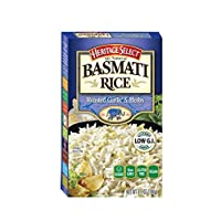 Heritage Select Basmati Rice, Roasted Garlic & Herbs with Orzo Pasta, 6.5 Ounce (Pack of 6)