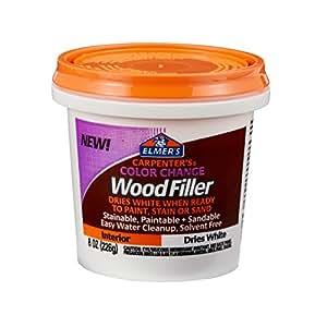 Elmer's Carpenter's Color Change 木质填充物,4 盎司,天然 (E912) 8 盎司 白色