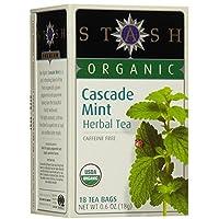 Stash Tea - 优质有机小瀑布薄荷的咖啡因免费清凉茶 - 18茶叶袋