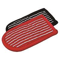 Lodge 2HH2 条纹热手柄夹/手套,2 件套 红色 1 2HH2