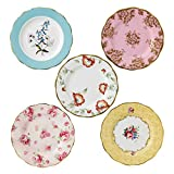 "Royal Albert 40017562 100 Years 1950-1990 Plate Set, 8"", Multicolor,5 Piece"
