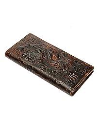 ourbag 男式真皮龙长短款钱包硬币金钱卡片夹手包