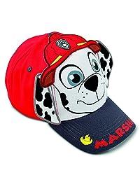Nickelodeon Toddler Boys' Paw Patrol Marshall Cotton Baseball Cap, Red, White, Grey, 2T-4T