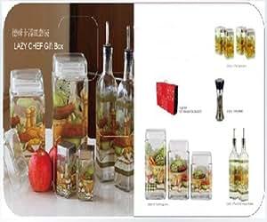 居元素德姆卡系列玻璃调料器皿10件套装N9390270