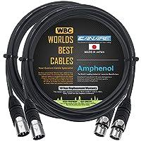 2 个 - 10 英尺 - Canare L-4E6S,星星四平衡公对母式麦克风线缆带Amphenol Silver XLR 连接器 - 由 WORLDS *好的电缆定制。