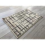 Serdim Rugs 防滑地毯,聚丙烯 - 冰箱,米色,112 x 157 厘米(3 英尺 8 英寸 x 5 英尺 1.8 英寸)