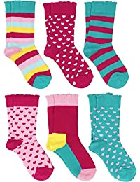 Lucky & Me Sonya 女袜,6 双,精梳棉,水手长度