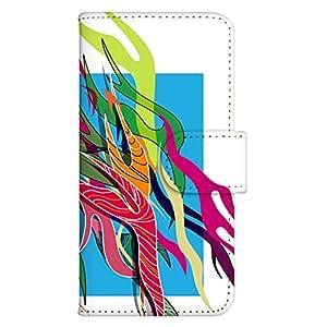 智能手机壳 手册式 对应全部机型 印刷手册 wn-568top 套 手册 图形艺术 UV印刷 壳WN-PR208282-M INFOBAR A03 图案 A