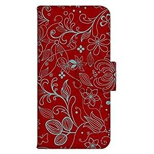 智能手机壳 手册式 对应全部机型 印刷手册 wn-631top 套 手册 花朵图案 UV印刷 壳WN-PR107310-MX DIGNO C 404KC 图案G
