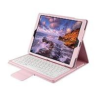 ikodoo爱酷多 无线键盘 适合苹果iPad air / iPad air2 9.7英寸 / 新iPad A1822 平板电脑 无线蓝牙键盘 保护套 仿牛皮支架式皮套 剪角按键机械键盘 蓝牙3.0无线距离10米 (ipad air/air2 9.7英寸, 粉色)