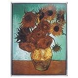 彩色玻璃面板 - 梵高向日葵染色玻璃窗挂件 - 艺术玻璃窗处理