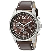 Burgmeister BM608-195 Washington, Gents watch, Analogue display, Chronograph with Citizen Movement - Water resistant, Stylish leather strap, Classic men's watch