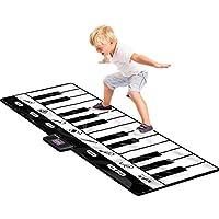 Click N' Play 巨大键盘垫 24 键钢琴垫 8 种可选择的音乐乐器 + 播放 - 录音 - 回放 - 模拟功能