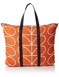 Orla Kiely 女式 线形花纹时尚折叠旅行包 17SELIN160-7005-00 橙色 均码
