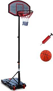 TP 户外可拆卸篮球架,单臂升降篮框,青少年儿童可调节便携式户外水箱篮球架,黑色滑轮