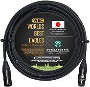 35英尺(约88.9米)- 平衡麦克风电缆由WORLDS BEST CABLES 定制 - 使用 Mogami 2549(黑色)线和 Neutrik NC3MXX-B 和 NC3FXX-B 金色 XLR 插头