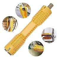 (8 合 1)水龙头和水槽安装工具,双头管道工具,多功能水龙头扳手工具,水管扳手工具,水管工家庭用水管扳手(热情黄)