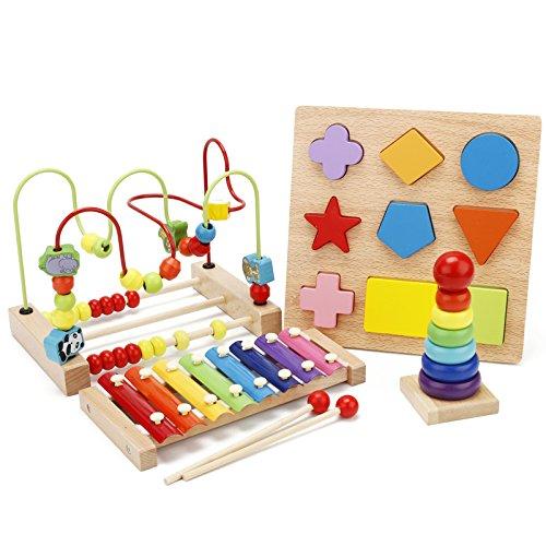 儿童绕珠串珠6一12个月婴幼益智玩具男孩女宝宝积木0-1-2周岁-3岁id=20857924231 (H套餐四件套)