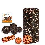 Blackroll 橙色(原版)自助按摩轴-完整套装标准版,带有迷你球, 海报和手册
