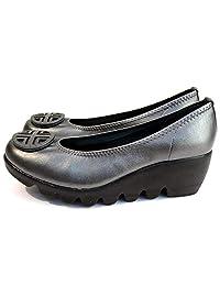 [*个隐形] 日本制造 美腿 休闲浅口皮鞋 女士 厚底 IM39001