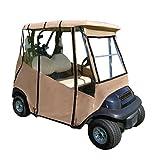便携式可动车高尔夫球车套 - 通用 2 位乘客贴合 - EZGO TXT RXV 防风雨罩 - Club Car Precedent DS - Golfer 雨旅行罩 - 黑色 - 棕褐色 - 蓝色 - 绿色 - 包括旅行包