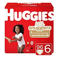 Huggies Little Snugglers 婴儿尿布,尺码 1,198片,1个月 One Month Supply Pack 6