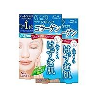 [Amazon.co.jp限定] Kose高絲 Clear Turn White面膜 膠原蛋白 5次裝 2包+贈品 面膜