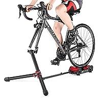 DEUTER 自行车训练器支架阻力可调节 - 便携式磁性自行车滚轮室内运动/健身/锻炼 - 可折叠全铝合金带手提袋 适合旅行