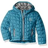 Reebok 女童可压缩连帽夹克,带冰川护盾