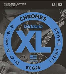 D'Addario 达达里奥 XL Chromes ECG25 12-52 细款平卷电吉他弦