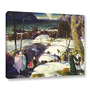 """ArtWall 1bel001a1418w """"George Wesley Bellow's Easter Snow, 1915"""" Gallery Wrapped Canvas Art, 14"""" by 18"""""""