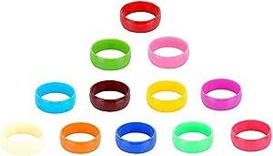 GOELX 儿童/女孩/女士塑料彩色手镯 - 12 个多色手镯套装 20Mm 厚 - 手镯尺码 2 多种颜色 Bangle Size 2 12-MultiColoured-Bangles-Set-20m-2