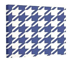 E by Design 犬牙齿几何印花壁画,40.64cm,蓝色麂皮