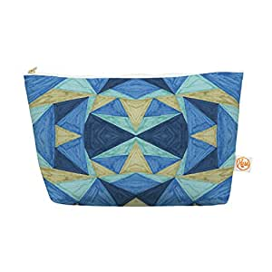 """Kess InHouse Everything Bag Tapered Pouch by  Empire Ruhl 12.5 x 7 Inches """"the Blues"""" Blue Navy (CR1014AEP04)"""