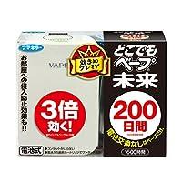 日本VAPE 驱蚊器 200日套装 珍珠白 有害昆虫用 本体+替换装