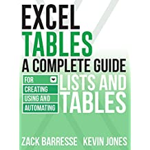 Excel Tables: A Complete Guide for Creating, Using and Automating Lists and Tables (English Edition)