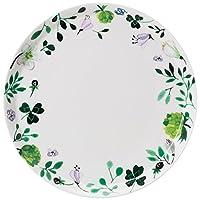 Narumi 鳴海 Anna Emilia系列 餐盤 三葉草花園 綠色 24厘米 可使用微波加熱&洗碗機 51854-5643P