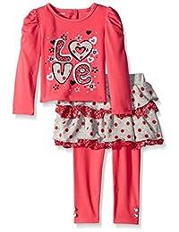 YOUNG Hearts 女童2件套 love 套头裙套