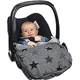The Original Dooky 126801 婴儿座椅套 灰色 带星星图案