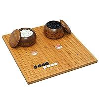 御圣-中国象棋/围棋盘 楠竹双面木质棋盘2cm实木象棋云子套装
