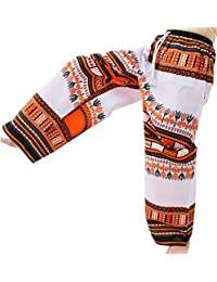 Raan Pah Muang RaanPahMuang 宽松直筒嘉年华达吉基印花男女通用裤非洲印花