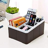 Yoki Home 遥控器手机塑料收纳筐(2个装) 办公室杂物床头小件分格桌面收纳盒