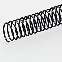 ECHO 爱可 46孔螺旋装订圈装订环/单线圈/蛇圈 装订机耗材 8mm/100支黑色(亚马逊自营商品, 由供应商配送)