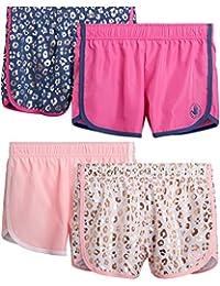 Body Glove 女孩 4 件装运动健身瑜伽海豚跑步短裤