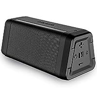 AOMAIS Real Sound 便携式蓝牙音箱防水大音箱,24 小时播放音乐,30 米范围,耐用无线音箱,适合家庭、户外、旅行使用 黑色