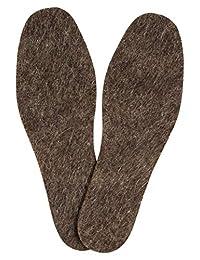男士鞋毡鞋垫纯 * 羊毛内芯,舒适舒适,保暖,适合寒冷和潮湿天气,非常适合散步、雨靴、花园鞋、拖鞋,6 mm 厚,Valenoks 出品 9 1.0