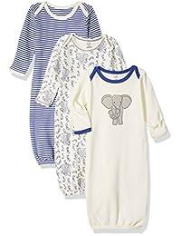 自然 touched 天然婴儿3只装有机棉睡袍  大象 0-6 Months