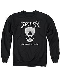 蝙蝠侠黑色金属蝙蝠侠中性成人圆领运动衫男女皆宜
