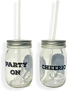 """派对马克杯 2 件套""""Party On"""" and""""Cheerio"""" WHW20170092"""